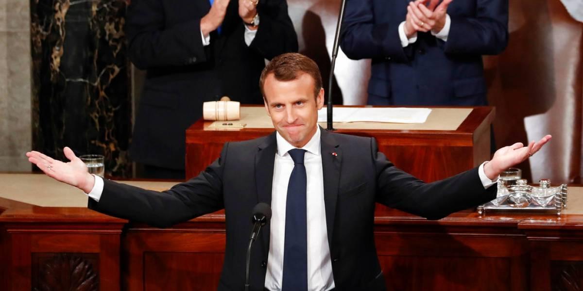 """Ante el Congreso, Macron alaba la """"relación especial"""" entre Francia y EstadosUnidos"""