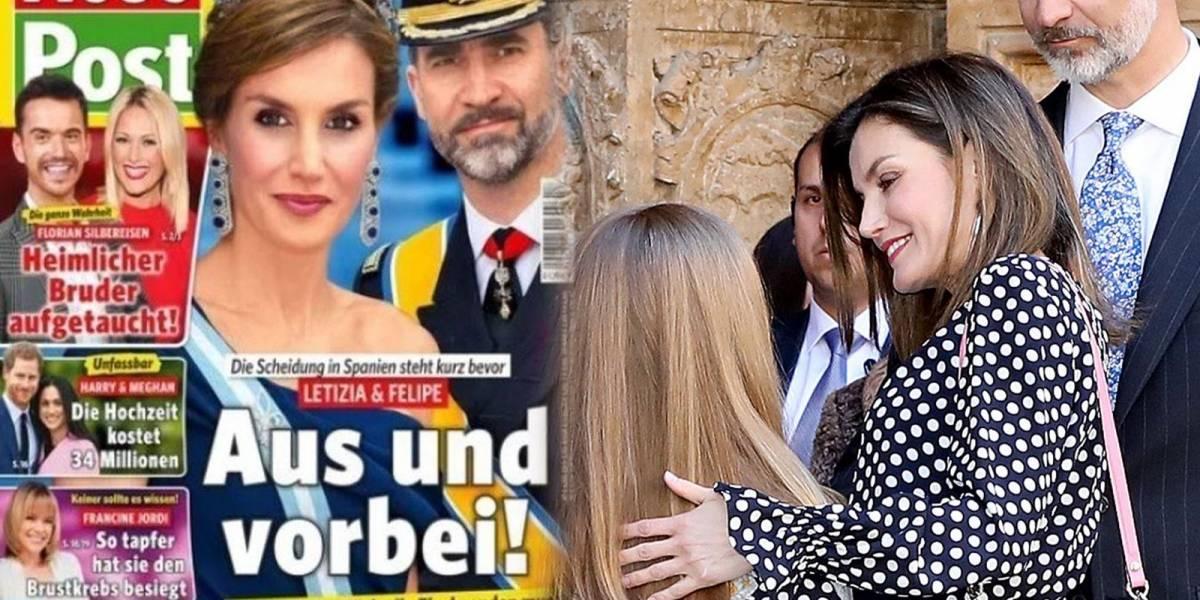 Revista alemana anuncia el divorcio de la reina Letizia y el rey Felipe