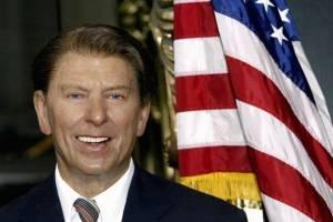La figura de cera del presidente Ronald Reagan en el Museo Madame Tussauds en 2004