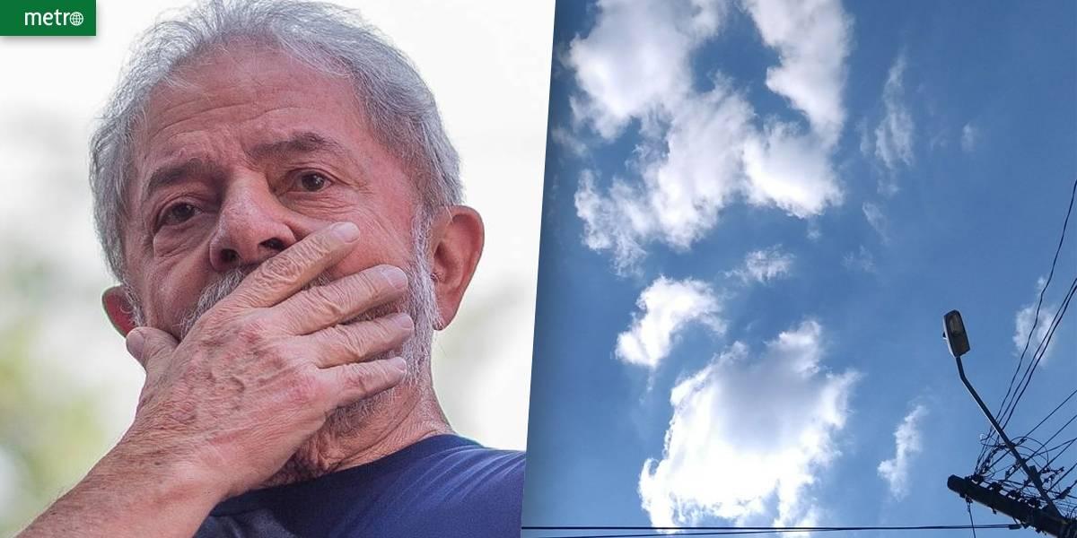 Lindbergh faz foto de 'imagem de Lula' em nuvem e vira piada na web