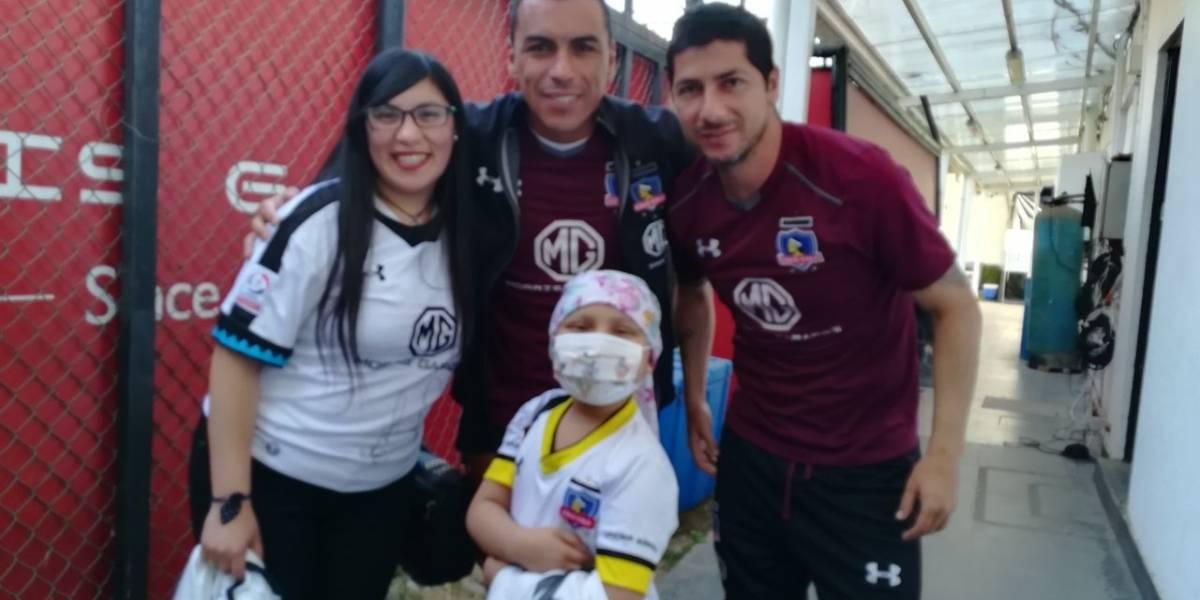 Colo Colo mostró su lado solidario y le cumplió el sueño a pequeña niña de San Antonio