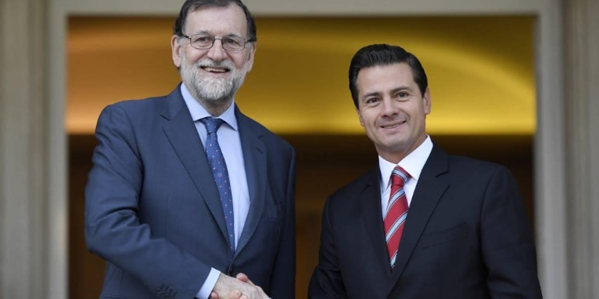 """Rajoy y Peña Nieto tratan la """"difícil situación"""" de Venezuela"""