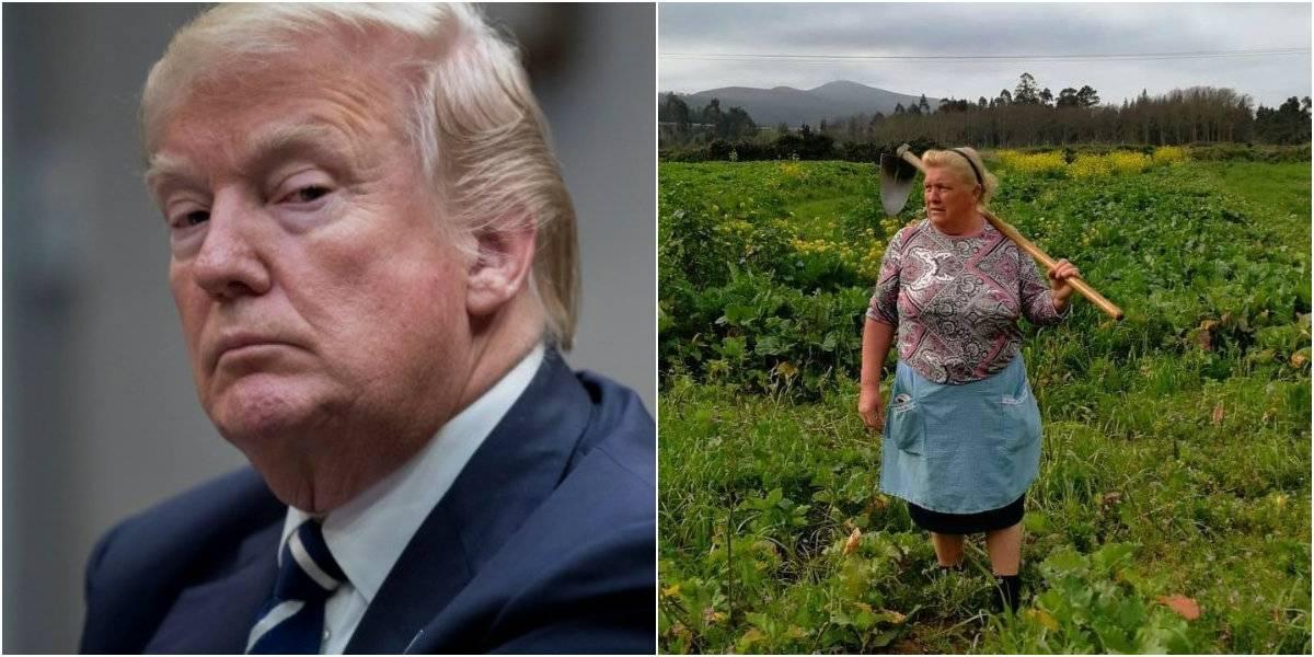 ¡Idénticos! Encuentran a la doble de Donald Trump en España