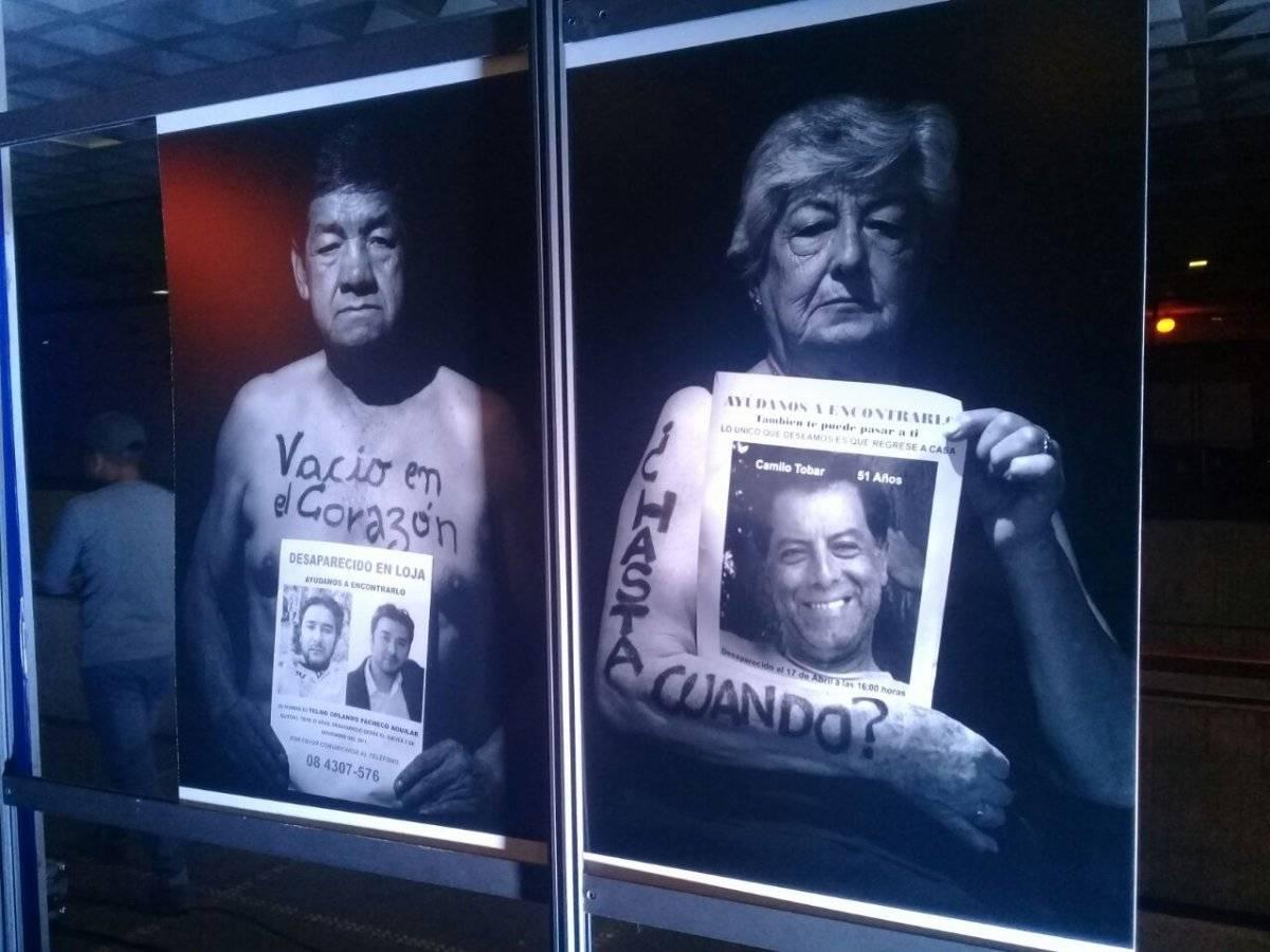 Fotografías tomadas por Paul Rivas, secuestrado y asesinado por disidentes de las FARC, para un reportaje sobre personas desaparecidas, en Quito METRO/Carlos Bolaños