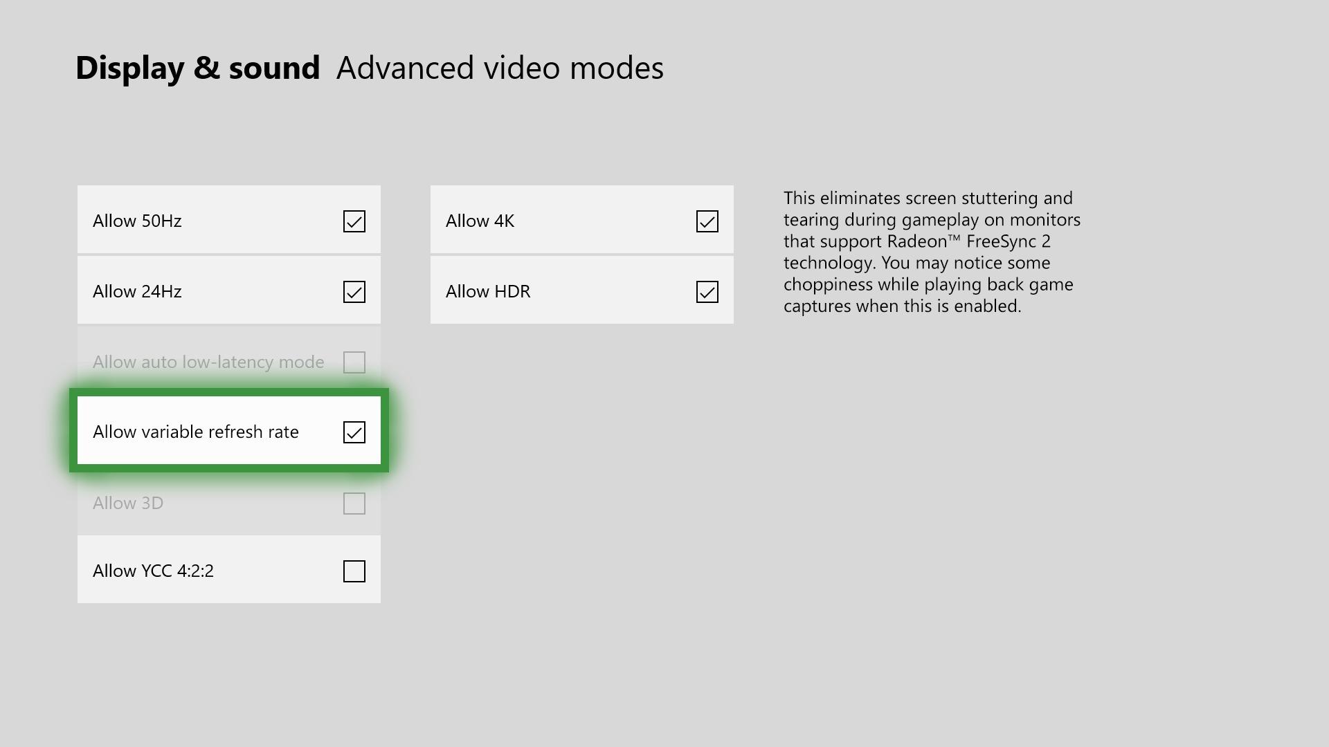 Xbox One Modo Juego