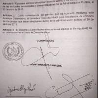 acuerdo por asueto 30 de abril