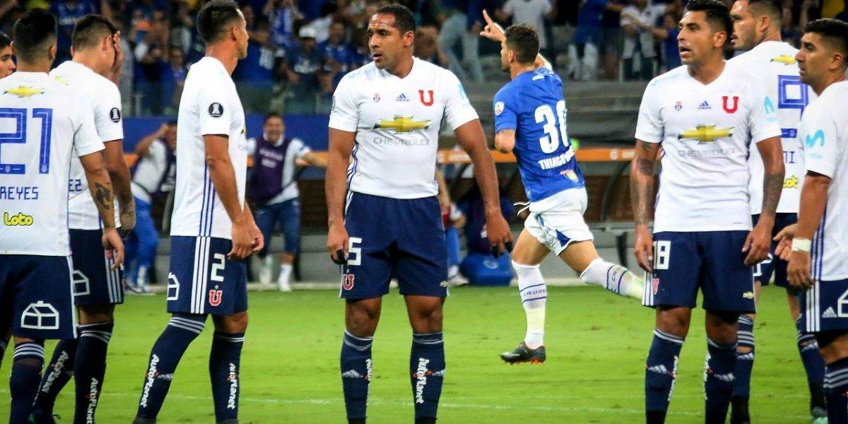 La U de Hoyos pasó una nueva vergüenza histórica y fue demolida por Cruzeiro en la Libertadores