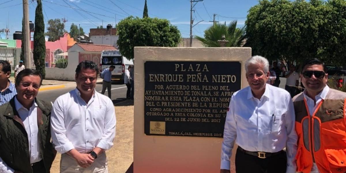 Nombra plaza pública en honor a Enrique Peña Nieto