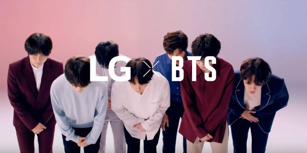 Popular banda de K-Pop BTS promociona el próximo celular de LG