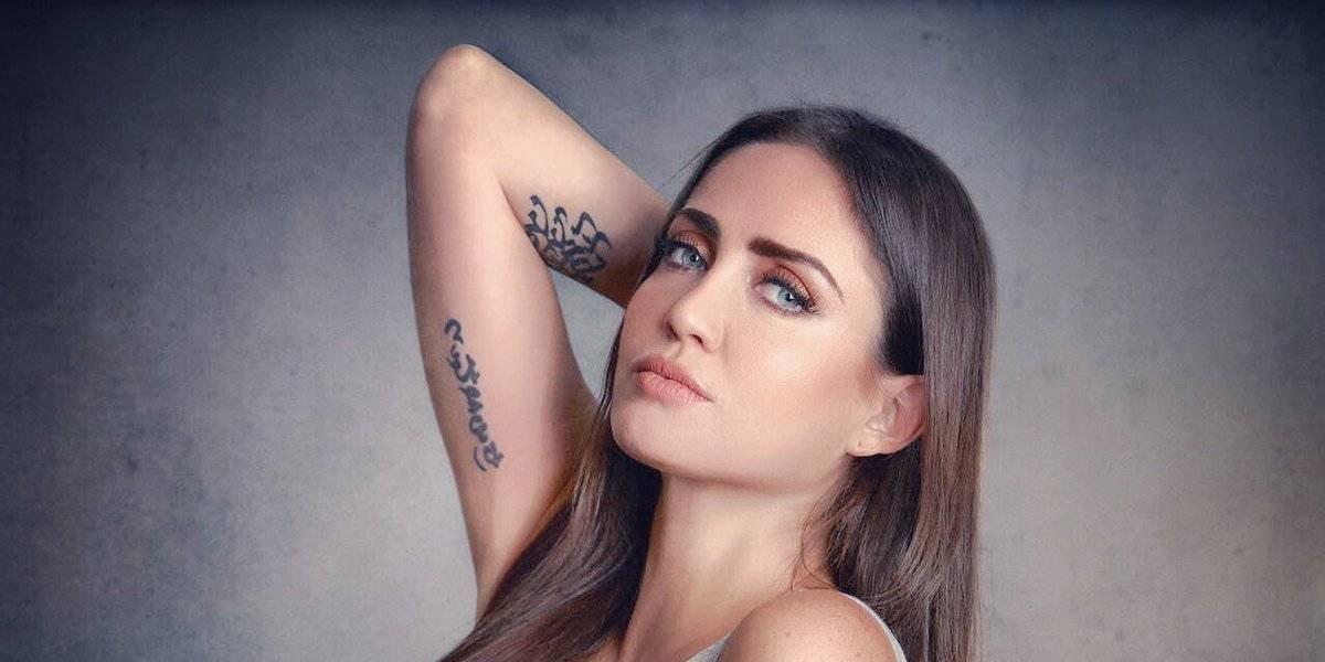 Celia Lora apoya a México de forma muy sexy