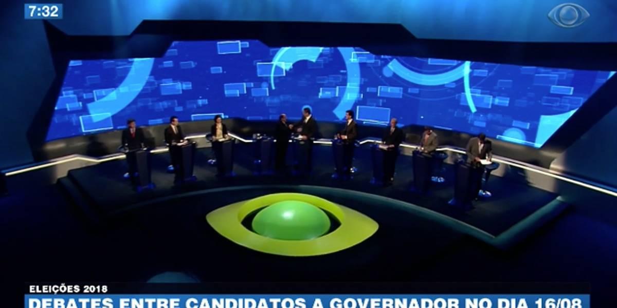Debate entre candidatos a governador será dia 16 de agosto