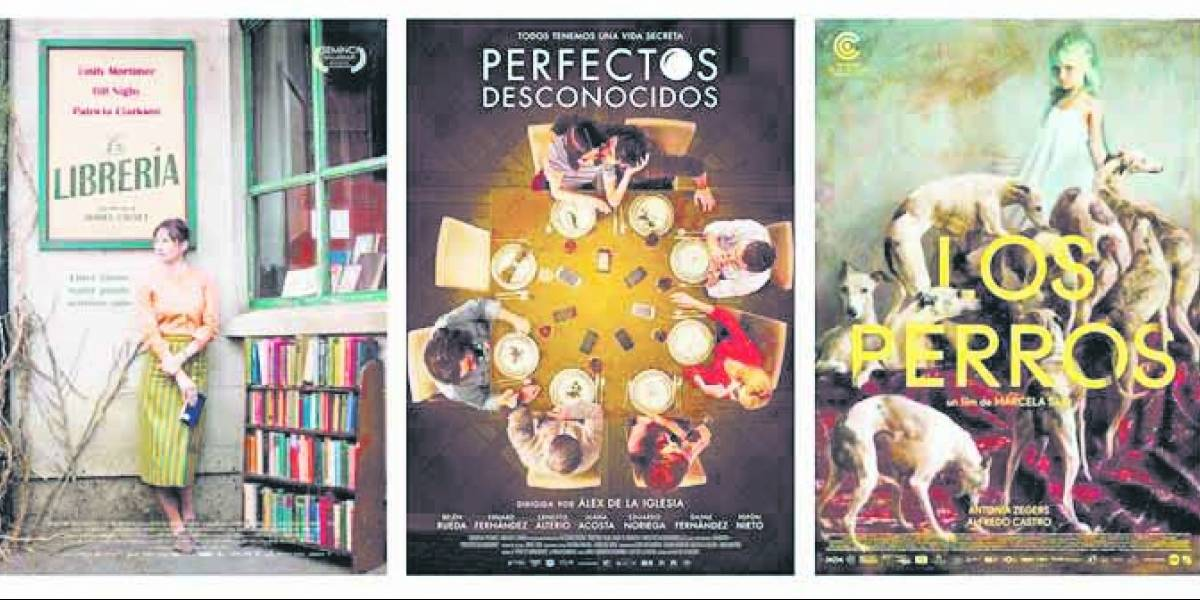 """Afiches de La Librería, Perfectos desconocidos y Los Perros aspiran al """"Mejor Cartel"""", en Premio PLATINO"""