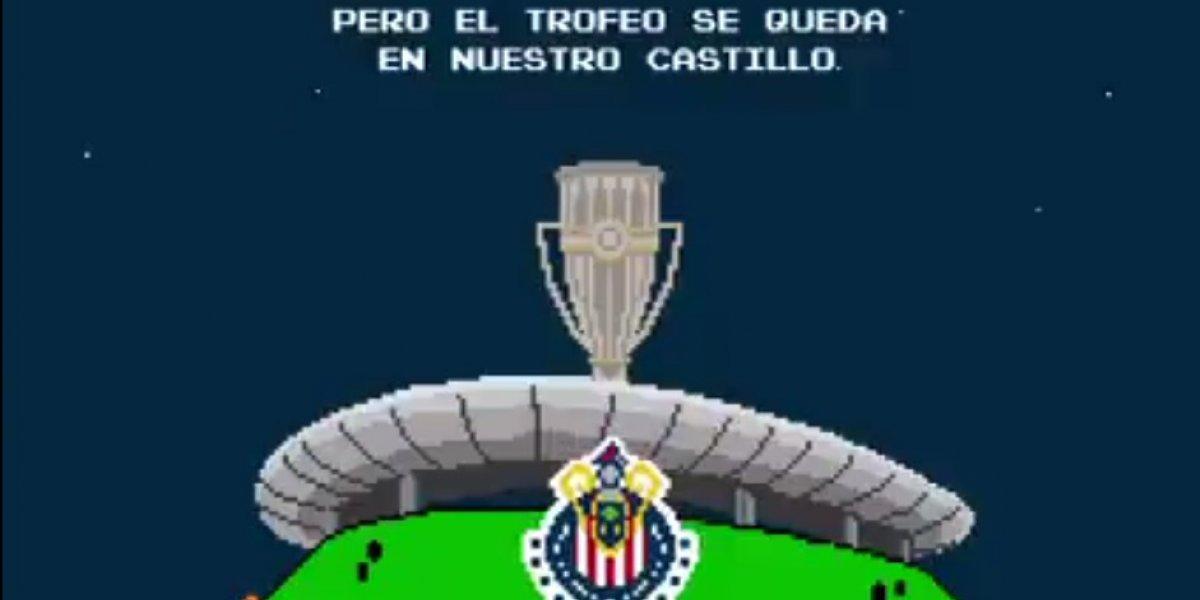 Chivas celebra el título de Concachampions al estilo de Mario Bros