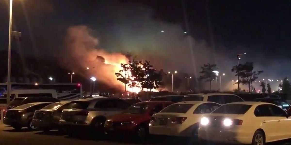 Se registra incendio en la final de la Concachampions