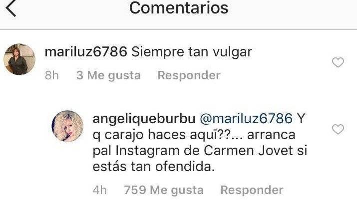 Burbu le baja fuerte a seguidora en Instagram
