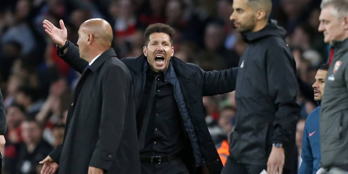 UEFA sanciona a Simeone y no podrá estar en la final de la UEFA