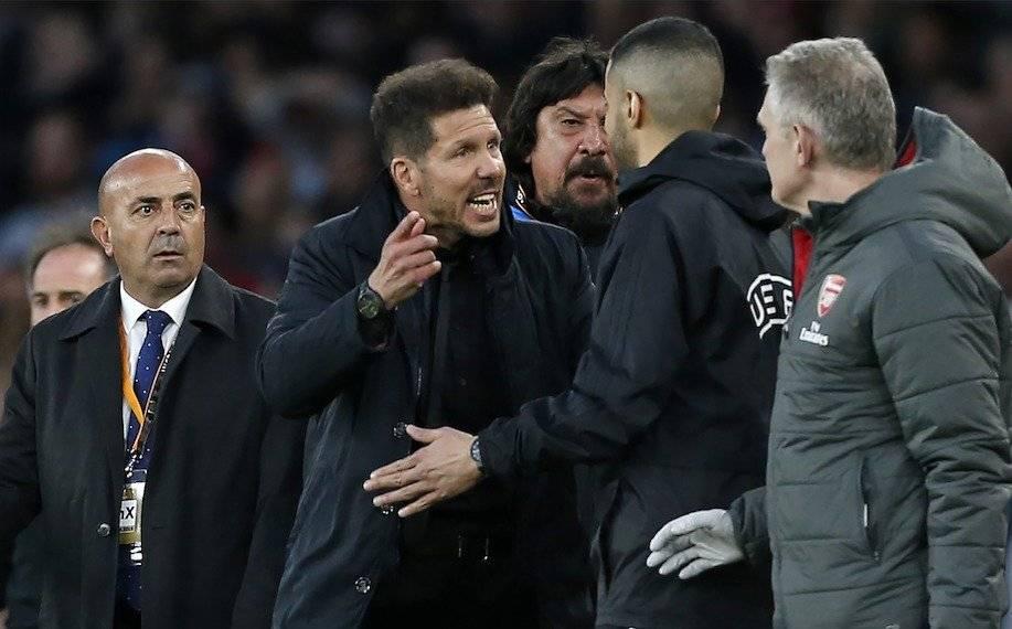 Simeone en un partido del Atlético de Madrid