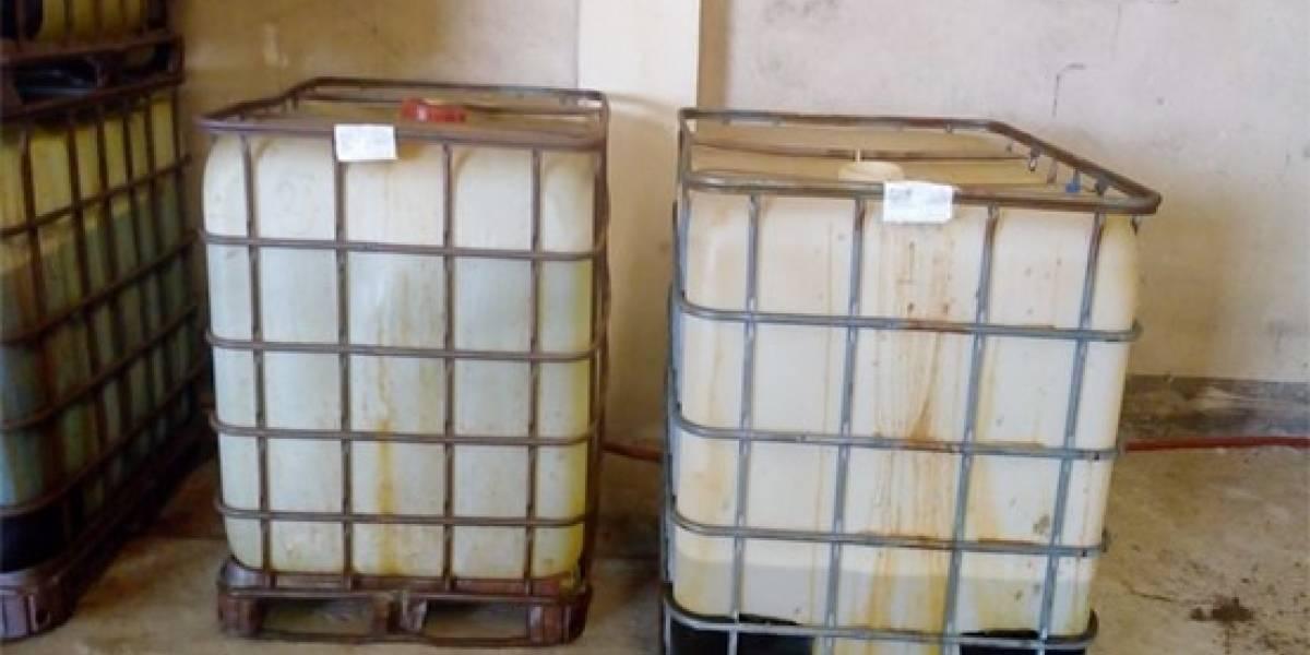Decomisan más de 12 mil litros de sustancias químicas en NL