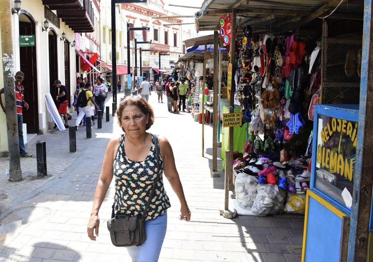 Vía peatonal en el Centro Histórico de Barranquilla. Jairo Cassiani