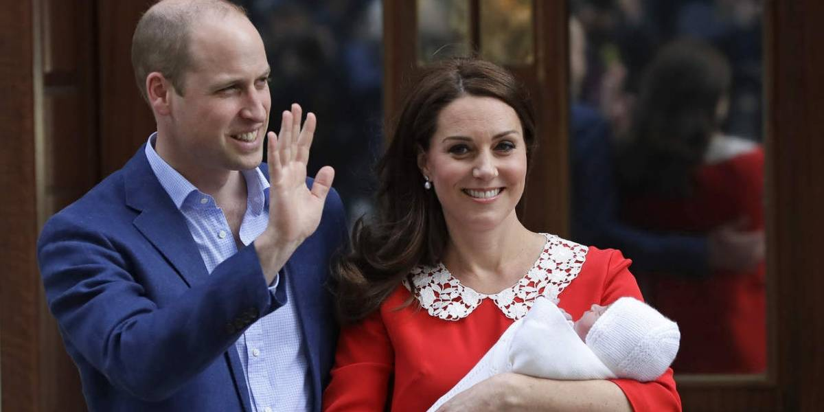 Pareja real británica revela el nombre de su tercer bebé