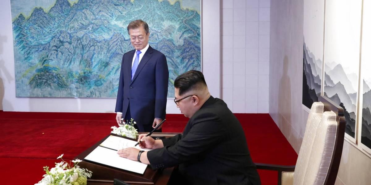 """""""Una nueva historia comienza ahora"""": ¿Qué escribió Kim Jong-un en el libro de visitas de la Casa de la Paz?"""
