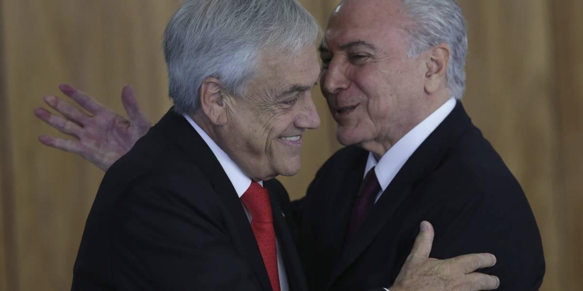 Temer niega acusaciones de lavado de dinero en plena visita de Piñera a Brasil