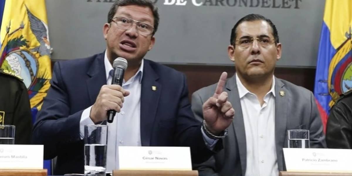 César Navas y Patricio Zambrano renuncian a cargos de ministros