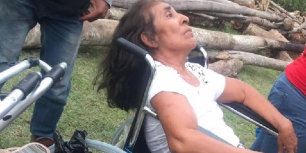 La indignante forma en que abandonaron a mujer de la tercera edad en Petén