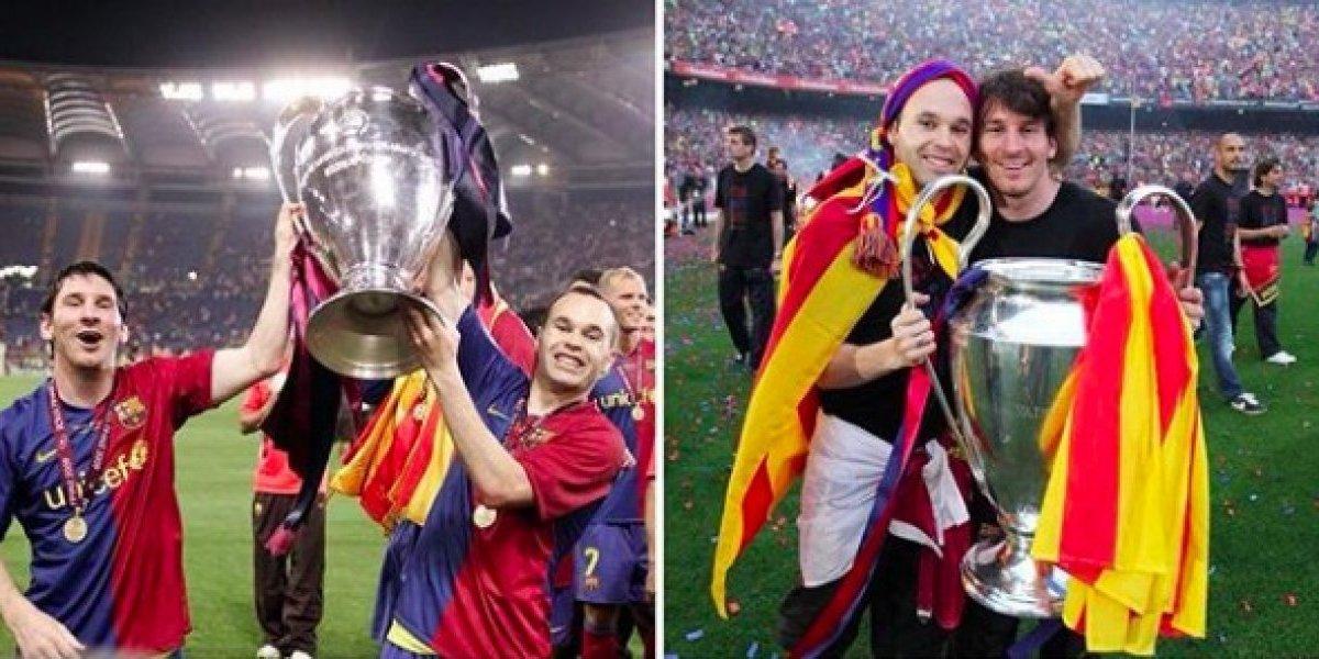 Así se despidió Messi de Andrés Iniesta