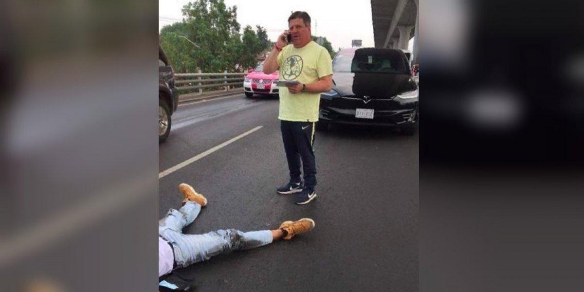 Involucran a 'Piojo' Herrera en accidente a motociclista