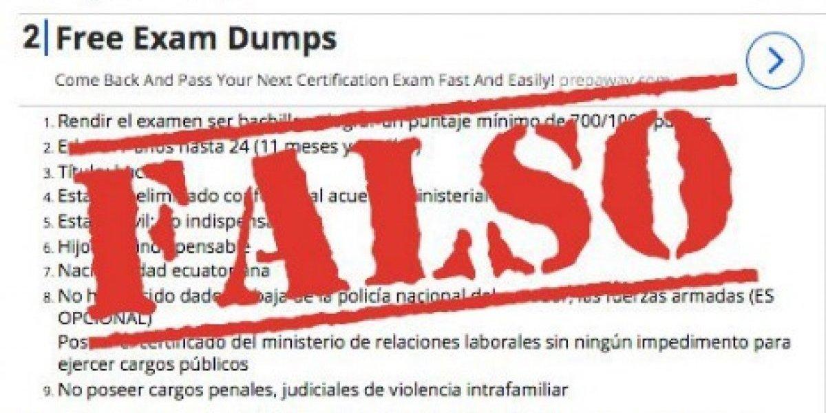 Se registran procesos falsos de inscripción para aspirantes de la Policía Nacional