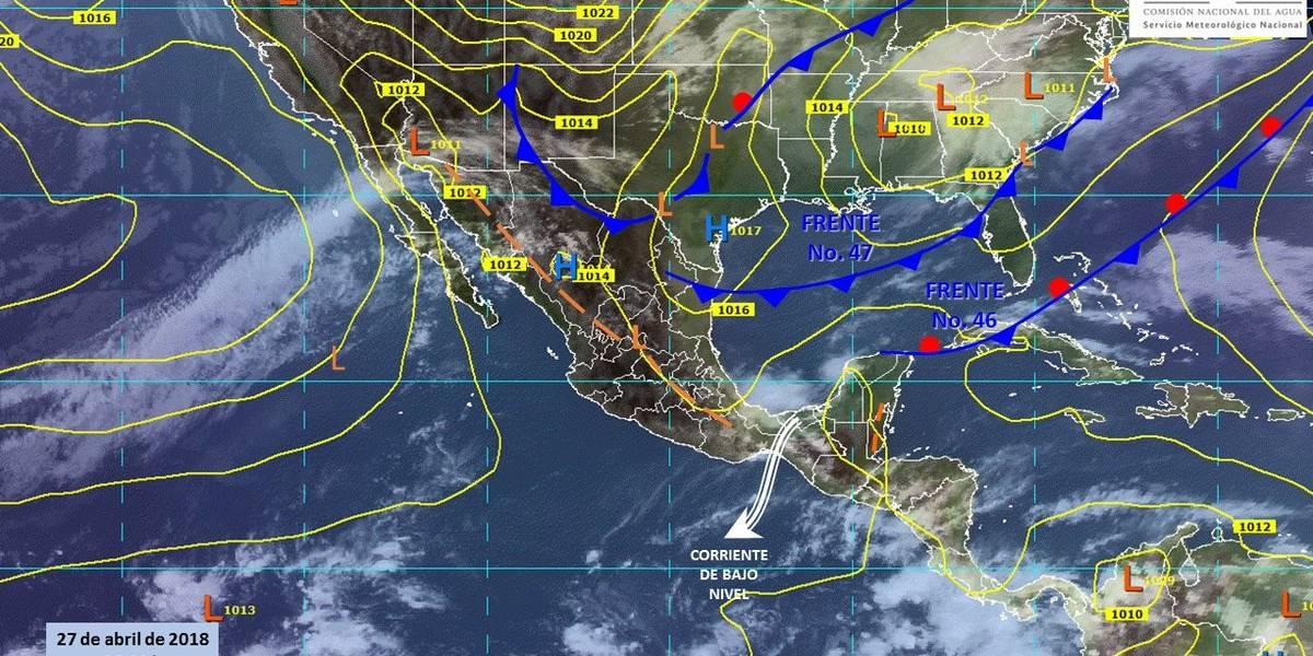 Seguirán las lluvias y granizadas en el país; especialmente en el sureste