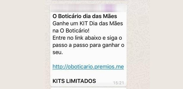Golpe WhatsApp O Boticário
