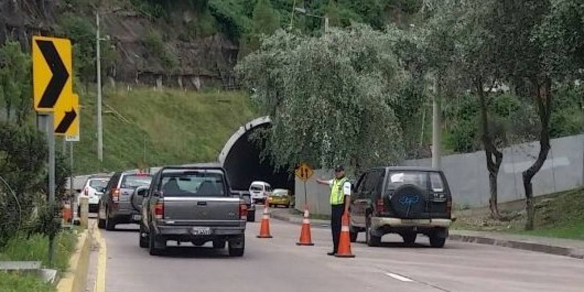 Contraflujo del túnel Guayasamín empezará una hora antes los viernes