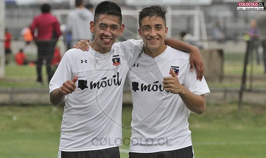 Diego Cayupil junto a Luis Salas / Colo Colo