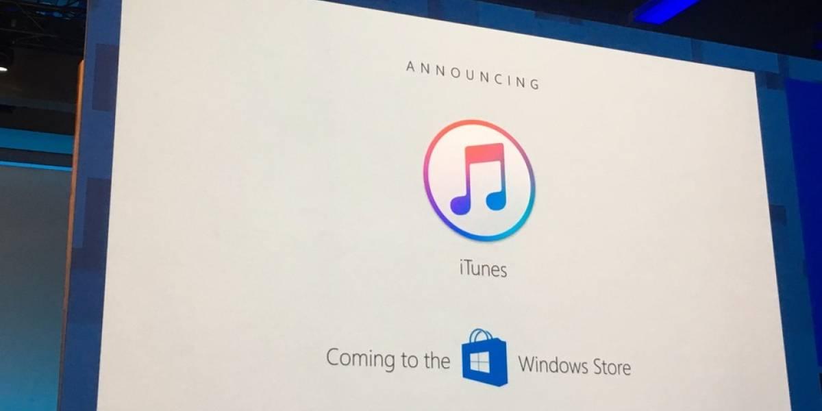 iTunes hace su estreno en la Microsoft Store de Windows