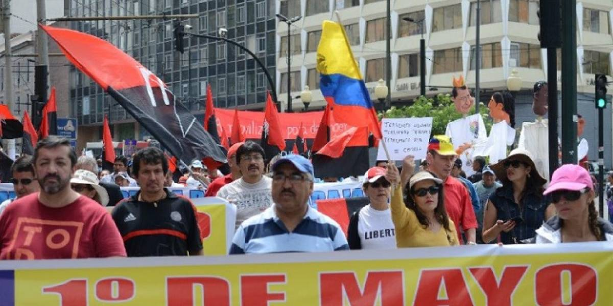 Marcha del 1 de Mayo modificará ruta del Trolebús en el Centro de Quito