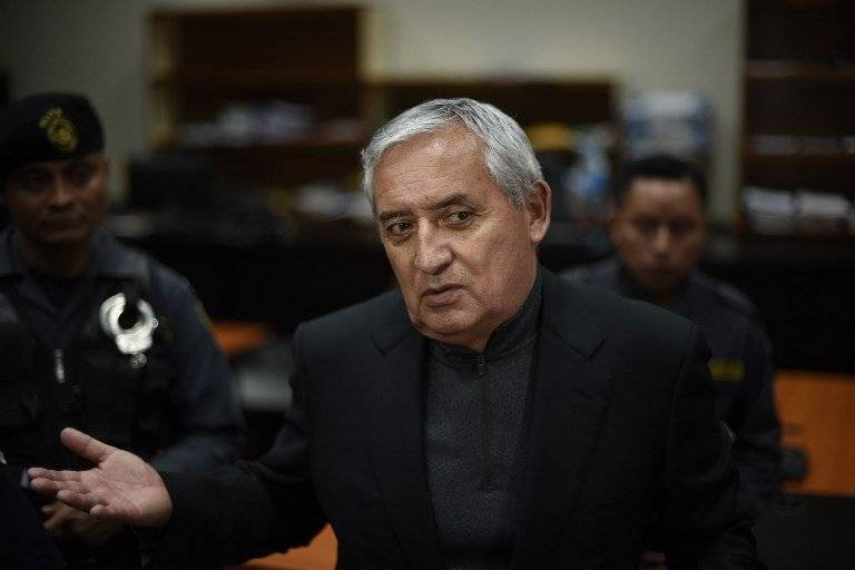 Juan Carlos Monzón declaró en contra del expresidente Otto Pérez Molina. Foto: AFP