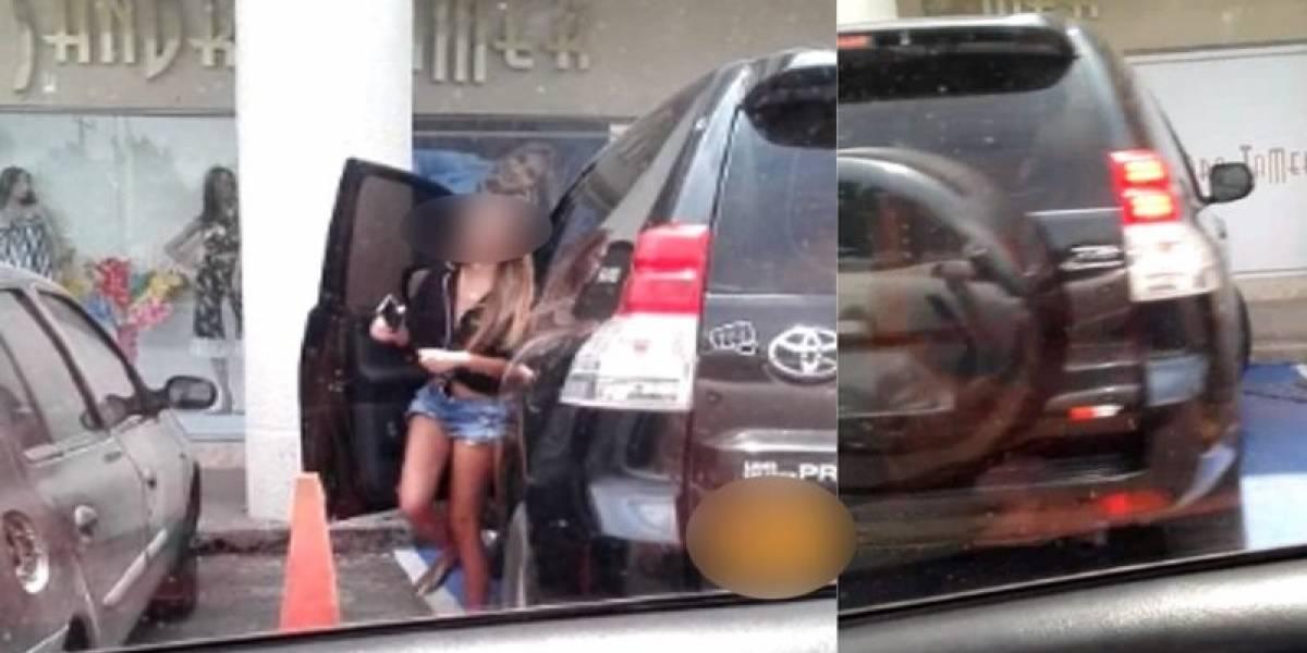 La pillaron estacionando su camioneta en zona para personas con limitaciones físicas