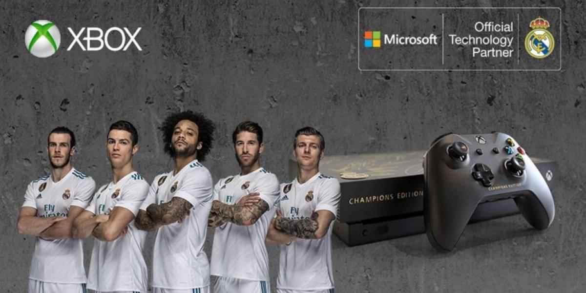 Xbox crea y sortea por Twitter una consola Xbox One X personalizada y firmada por el Real Madrid