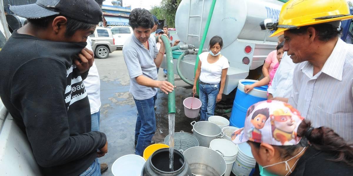 Suministro de agua se regularizará el miércoles