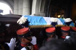 honras fúnebres de Álvaro Arzú