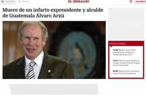 Noticia muerte Álvaro Arzú
