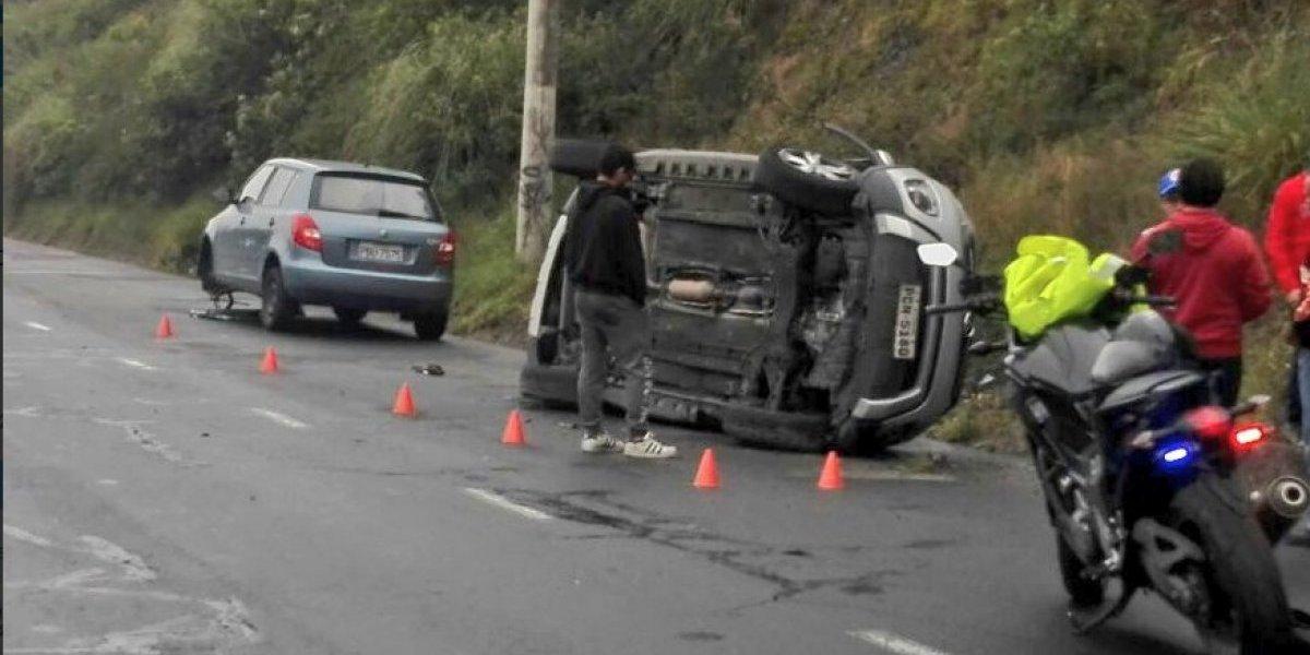 Se registró accidente de tránsito en el sector de Zámbiza, Quito