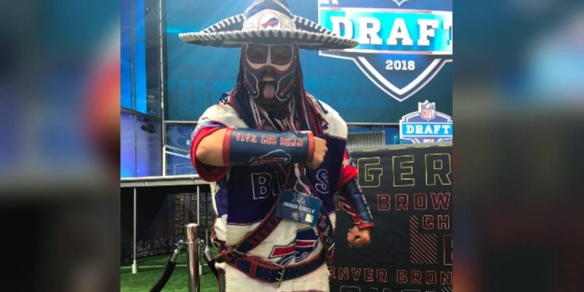 'Pancho Billa', el aficionado de los Bills que asistió al Draft en su lucha contra el cáncer