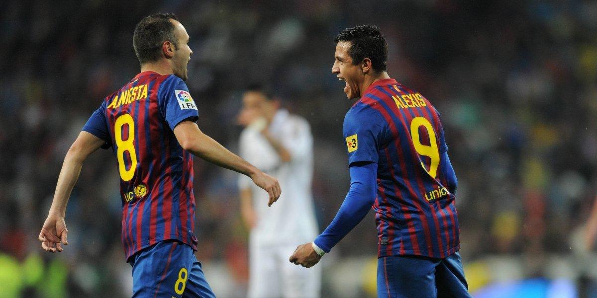 Alexis Sánchez no olvidó a Andrés Iniesta y le mandó un mensaje de despedida
