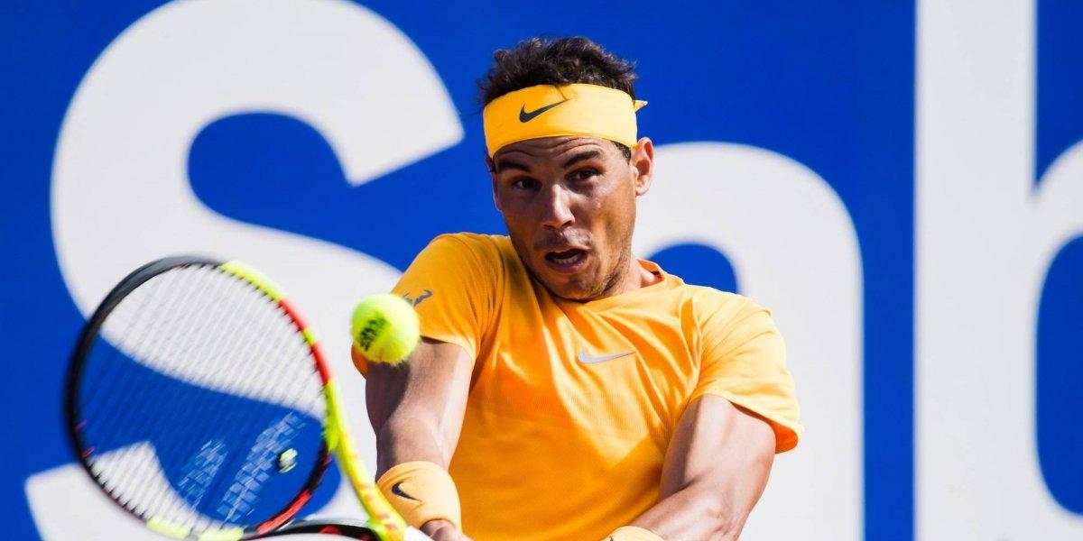 Rafael Nadal suda para entrar a la semifinal en Barcelona