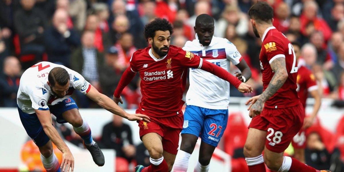 Mohamed Salah no pudo contra el Stoke City
