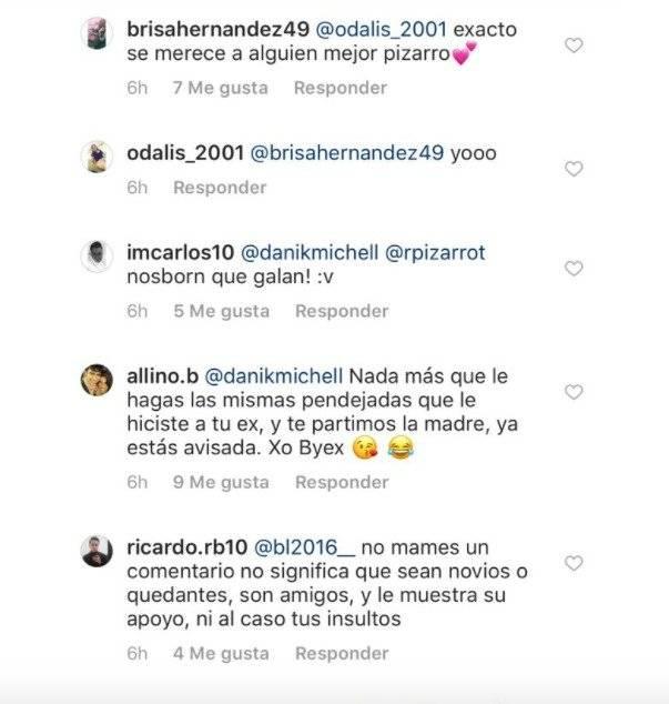 El mensaje se ve claramente con unos corazones y desatando el malestar de algunas fans de Pizarro  REFEREE