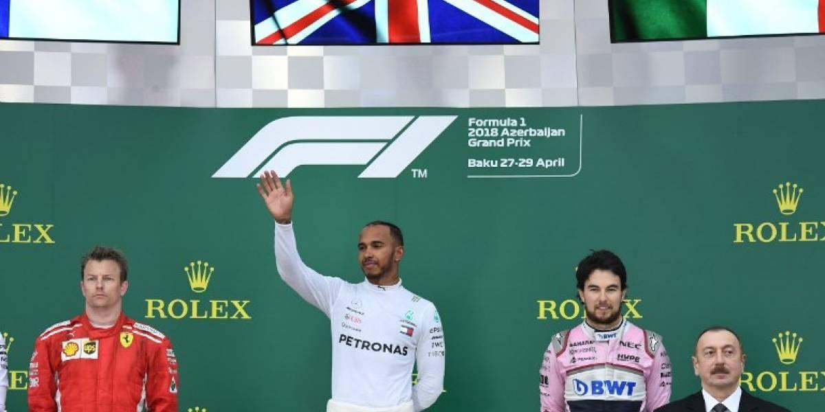 Hamilton triunfa contras las adversidades en el GP de Azerbaiyán